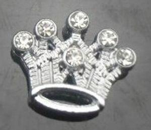 20pcs / lot 8mm полные стразы смешивать стили слайдов Charms (сердце звезды цветок корона), пригодные для 8мм браслета