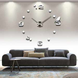Wholesale- 2016 Special Offer New Sale Clock Wall Clocks Reloj De Pared Horloge Watch Large Decorative Acrylic Mirror Quartz Living Room
