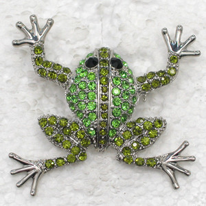 Fashion Crystal Rhinestone Animal Brooch Pin Frog Costume Brooches Gift Jewelry Accessories C043