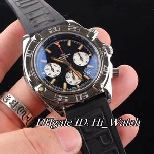 Nueva PVD Negro Bisel de acero verde MB0111C3 reloj de plata Subdail Miyota cuarzo cronógrafo para hombre reloj de nylon / Caucho Cronómetro Hi_watch BRE79b2