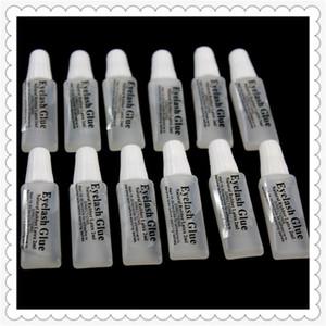 H-красота накладные ресницы клей 2 мл пластиковые плоские трубки путешествия портативный нет стимуляции небольшой клей Леди макияж инструмент оптом