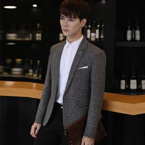 Toptan-Bahar erkek Casual Blazer Suit Erkekler Blazer erkek Giyim Erkek Takım Elbise Slim Fit Ceket Eğlence Blazer Suits