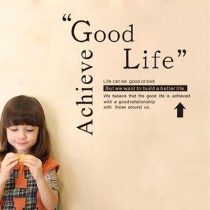 9246 Achieve Good Life Cita Pegatinas de pared Motivational Build A Better Life Pegatinas de pared DIY Cita Tatuajes de pared Envío gratis