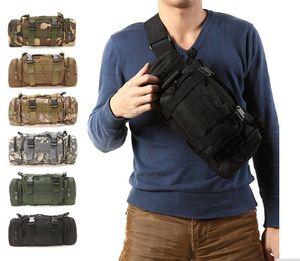 Al aire libre Military Tactical Waist Pack 3L Impermeable Oxford Molle Camping Senderismo Bolsa Mochila Bolsa de Cintura Mochila militar