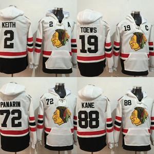 2017 Winter Classic Hoodies Men's 2 Duncan Keith 19 Jonathan Toews 72 Artemi Panarin 88 Patrick Kane Stitched Sweatshirts Hockey Jerseys