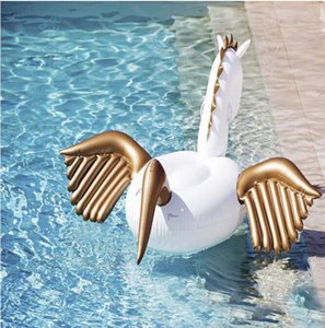 Надувные Плавать Пегас Опорожнения Бассейн Игрушки Воды Плавающей Строки Крепление Весело Поплавок Бассейн Воздушные Трубки Воды Игрушки