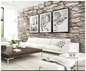 3d foto papel de parede personalizado 3d murais de parede pedra Natural cultura de pedra parede de fundo 3d sala de estar decoração da parede