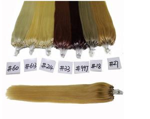 5a grade indian Human 14-26'' Micro Loop Hair Eextensions 0.8g s 200s 160g Extensions 27# honey blonde color Loop Hair Extensions