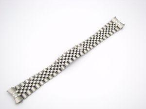 CARLYWET 20mm 316L Edelstahl Jubilee Silber TwoTone Gold Armbanduhr Band Armband solide Schrauben Links gebogenes Ende