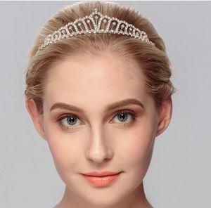 Bonita Rhinestone Tiara Corona Exquisita Diadema Peine Pin Boda Nupcial Cumpleaños Tiaras Nupcial Piezas de Cabeza Accesorios de Pelo Nupcial