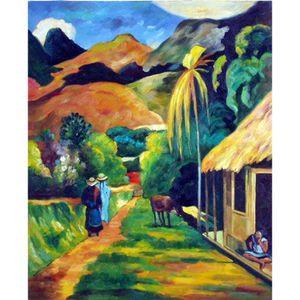 Декоративные настенные росписи Paul Gauguin Street Scenery art для декора стен ручная роспись маслом на холсте
