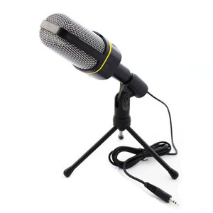 Professional Condenser Home Audio Studio Sound Recording Microphone 3.5mm Jack MIC Shock Mount for Skype Desktop PC Notebook Computer