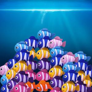 Heißer Verkaufs-Supermarkt Goldfisch-Einkaufstasche Tier tropische Fische Faltbare Eco Bag Einkaufstasche