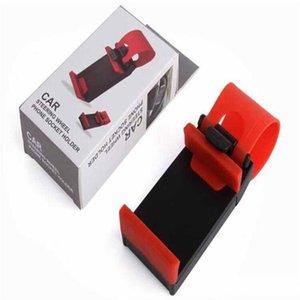Soporte del zócalo del teléfono del volante del coche Clip SMART Soporte para bicicleta para iphone 6 más s5 GPS de uso sencillo con paquete minorista