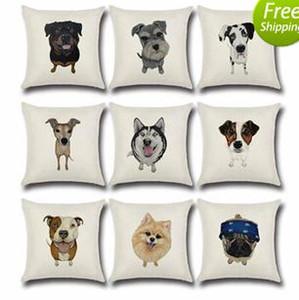Wholesale Cute Dog Horse Elephant Cushion Covers Cotton& Linen Pillow Cases Cushion Chair Pillow Case for Home Accessories 45*45cm