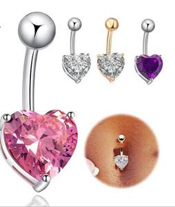 Hot vente amour en forme de boucle nombril danse du ventre Nightclub midriffs nu anneau nombril bijoux en diamant artificiel