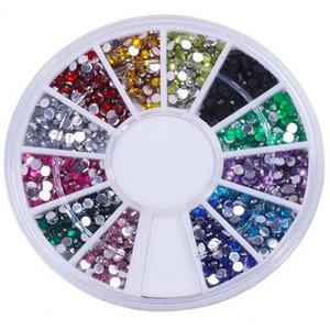 Wholesale- Biutee 12 Colors Nail Rhinestones 2mm Acrylic Nail Art Rhinestones Decoration applique For UV Gel Phone Laptop DIY Nail Tools