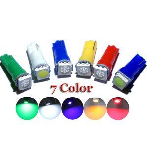 가방 당 100 개 T5 5050 계기판 램프 자동차 대시 보드 표시 등 조명 LED 실내 조명 자동차 스타일링 1 SMD