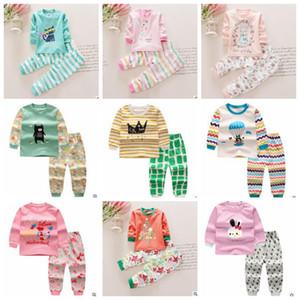 Babykleidung Sets Boy Cartoon Print Anzüge Mädchen T Shirts Hosen Kinder Gestreifte Dot Tops Shorts Casual Kleinkind Bär Prinzessin Baumwolle Outwears H37