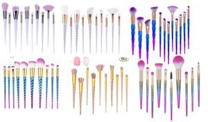 CHAUD sirène Licorne vis diamants gourde maquillage pinceaux Ensembles 3D coloré professionnel brosses Fondation Blush cosmétique brosse Set Kit outil