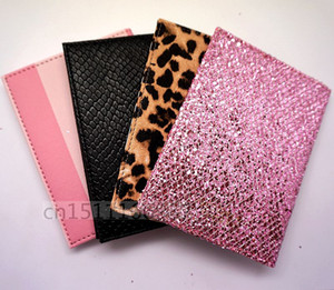 Hot 2018 NEW Fashion Pink stripe Travel Passport ID Card Cover Holder Case Faux Leather Rose Leopard Protector Skin Organizer