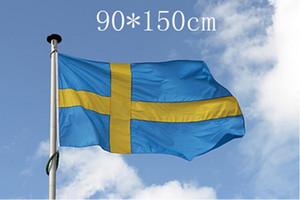 Bandeira Suécia Nation 3 pés x 5 pés de poliéster bandeira Flying150 * flag 90 centímetros personalizado Em todo o mundo Worldwide exterior
