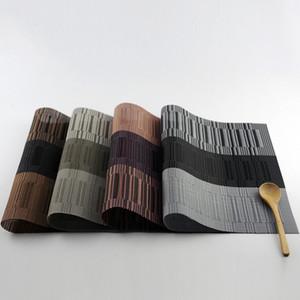Mantel individual para mesa de comedor mantel individual de mesa de comedor de mesa de comedor de bambú posavasos de vino manteles de bambú WA1432