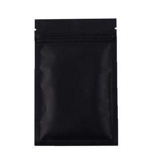 Высокое качество 100 X Metallic Майларовые Ziplock мешки с плоским дном черный Алюминиевая фольга небольшой почтовый замок пластиковые пакеты