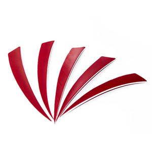 50pcs 4 colores 5 '' plumas de ala izquierda para fibra de vidrio de bambú flechas de tiro con arco de madera de caza y escudo de tiro