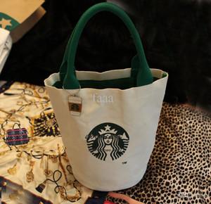새로운 패션 여성 유명 스타 벅스 귀여운 쇼핑 핸드백 숙녀 패션 브랜드 디자이너 점심 가방 무료 배송 고품질의 캔버스 토트