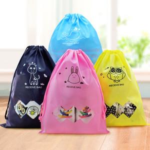 bolsa de viaje de tela no tejida bolsas con cordón bolsa de zapatos tamaño 2 Color actividad de protección del medio ambiente impresión recibir bolsa de zapatos IC602