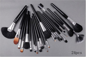 Factory Direct Free Shipping New Makeup Brushes MC 24 Pieces Brush Sets With Leather Pouch!