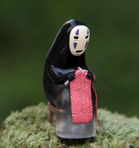 Miyazaki Hayao Spirited away figurines miniature fairy garden gnome moss terrariums artigianato per la decorazione domestica accessori