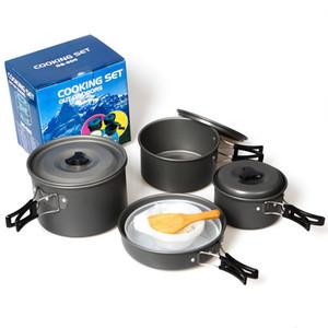 12 em 1 Caminhadas Ao Ar Livre Mochila Campismo Cozinha Panelas de Viagem Tigela de Piquenique Pote Pan Cooking Set para 5 Pessoas