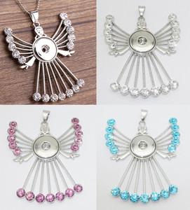 3 цвета Mix моды 50см Link Chain Нуса Куски металла Имбирь Rhinestone Angel Fairy 18мм привязок Пуговицы ожерелье оптовой продажи ювелирных изделий