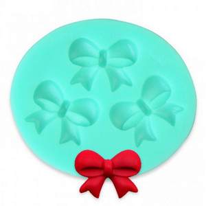 Wholesale- 3D Bow Fondant Chocolate Mold Candy Cake Soap Mould Cake Decorating Strumento di cottura # 40935