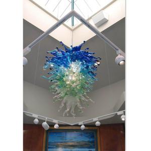 Murano Glass Blown Chandelier Lightings Color de la lámpara Lámpara colgante Diseño Vestíbulo grande Luces para restaurantes - Marca Girban