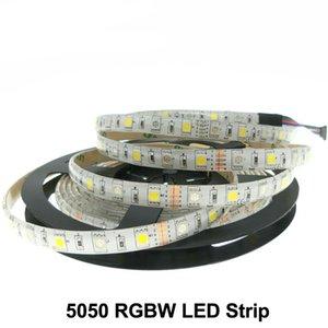 Iluminação do feriado de LED Strip 5050 RGBW DC12V 60LED / M 5m / lot tiras de LED RGB + Branco / RGB + Branco Quente flexível levou luz