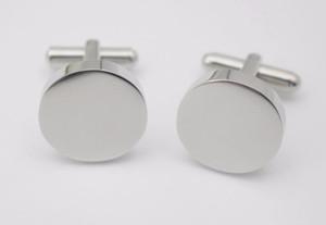 4 мм толщина круглые запонки пользовательские ваш логотип дизайн равнина серебряный цвет круглый запонки из нержавеющей стали ювелирные изделия для мужчин женские подарки