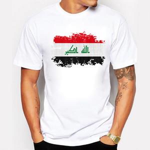Nuova estate Iraq Bandiera Uomini T Shirt 100% Cotone T-Shirt Iraq Nazione Bandiera Stile Nostalgico Supera Tees Camisa Masculina