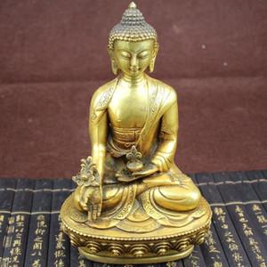 Collezione Tibetan Pharmacist Buddha Brass Statue