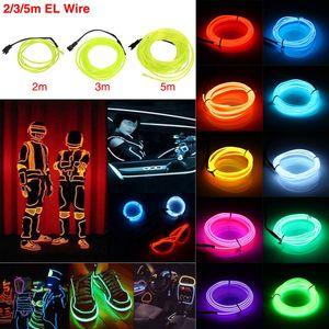 3M Esnek LED Işık Neon Işık Parlayan EL Wirestrip Tüp Çocuklar İçin Oto Dans Partisi Dekorasyon Gece Işığı Yetişkinler