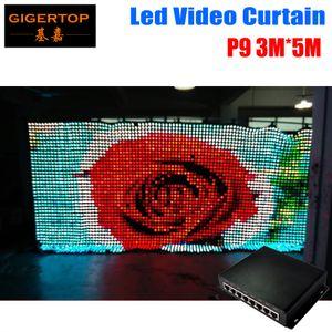 P9 3M * 5M LED Vison Curtain con modo PC / SD, tricolor 3In1 LED Video Curtain para DJ Wedding Backdrops 90V-240V