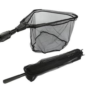 Goture Alumínio Dobra Rede De Pesca De Tamanho Diferente Landing Net Com Estendendo Telescópica Pólo Multifilament Mão Net