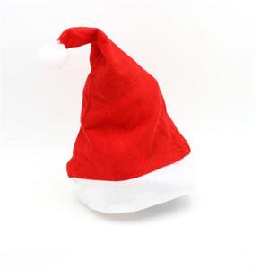 산타 클로스 모자 크리스마스 선물을위한 크리스마스 모자 성인 파티 장식 할 수있는 저렴한 파티 축제 도매 무료 배송