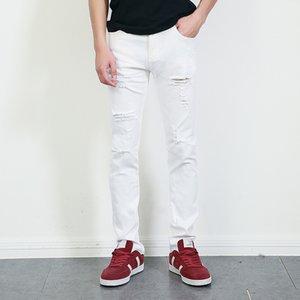 Wholesale- represent clothing designer pants white destroyed mens slim denim straight biker skinny jeans men ripped jeans 28-36 MB1615