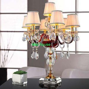 Estilo europeu moderno lâmpada de cristal LEVOU moda quarto sala de estar fundo sofá canto restaurante criativo estudo lâmpada lâmpada de mesa de cabeceira