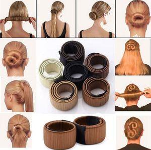 Mais populares Laços de Cabelo Da Menina Do Cabelo DIY Styling Francês Torção Magia hairstyling Ferramenta Cabelo Bun Criador