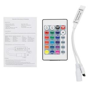Edison2011 24 Key IR remoto inalámbrico Control Strip 12V RGB LED Mini Controller Dimmer Para RGB LED 5050 3528 3 canales de LED