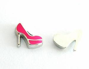 20 pçs / lote sapato de salto alto diy encantos medalhão flutuante fit para vidro magnético vida medalhão flutuante colar fazendo